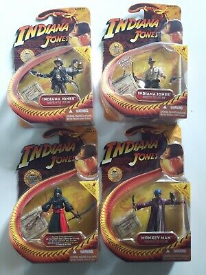 "Lot-4 2008 NIP HASBRO INDIANA JONES RAIDERS OF THE LOST ARK-3.75"" ACTION FIGURE"