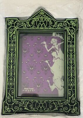 Disney Parks Haunted Mansion Hitchhiking Ghosts Photo Frame Glow in the dark NEW