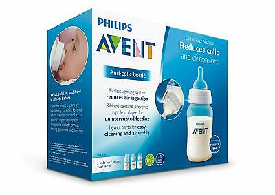 Philips Avent Anti-colic Baby Bottles Clear 9 Ounce (3 Count)