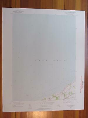 North of Dunkirk New York 1956 Original Vintage USGS Topo Map
