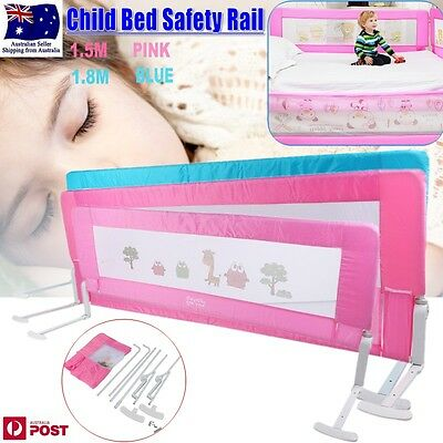 AU Safety Child Toddler  Bed Rail Baby Bedrail Fold Cot Guard Protection 2Colors