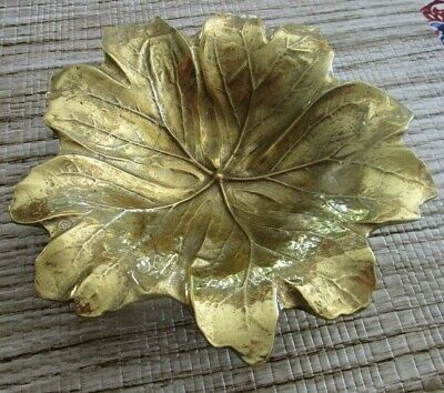Virginia Metalcrafters Brass 4-6 May Apple Leaf ©1948