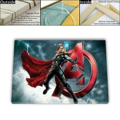 """16""""x26"""" Thor Avengers HD Canvas prints Framed Home decor Room Wall art Pictures"""