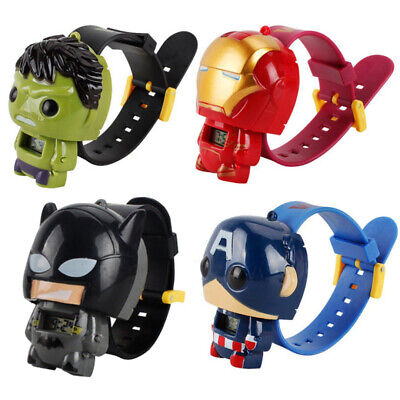 Avengers Iron Man Spider-man Children's Wrist Watch Kids Cartoon Toys