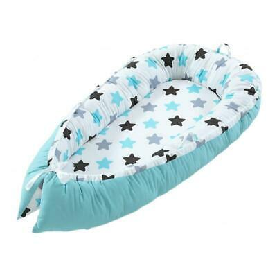 Baby Lounger Newborn Infant Baby Bed Portable Pillow Green 0-3