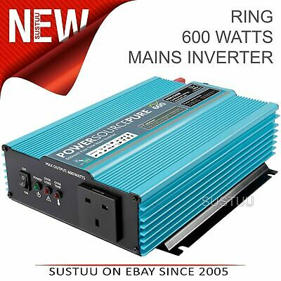 Ring Pure Sinuswelle Netz Wechselrichter │ 1000 Watt │ 24V │ Power Quelle pro │