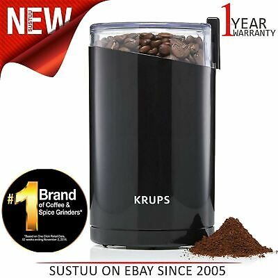 Krups Stainless Steel Twin Blades Coffee Mill¦Spice & Herb Grinder¦200W¦Black