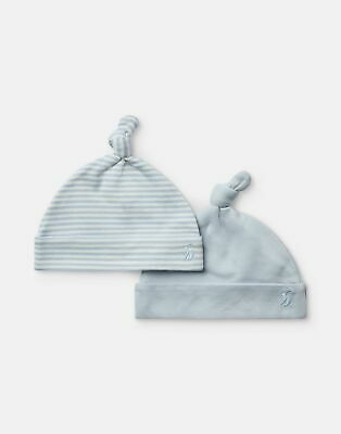 Joules Baby Koo 2 Pack Jersey Hats in ICE BLUE