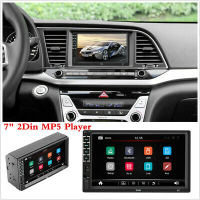 """Car Radio Stereo Touch Screen 7"""" Double 2 Din Bluetooth USB/SD/AUX/FM MP5 Player"""