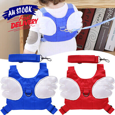 Baby Harness Reins Belt Safety Wing Backpack Toddler Walking Kids Anti-lost