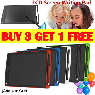 "12"" Electronic Digital LCD Writing Pad Tablet Kids Drawing Graphics Board AU R"