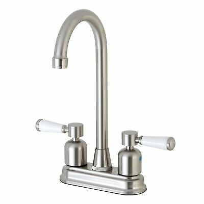"Polished ... Kingston Brass KB492AL Victorian 4/"" Centerset High Arch Bar Faucet"