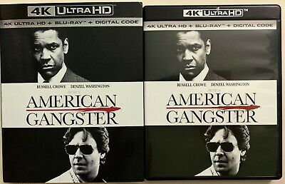 American Gangster 4K Ultra Hd Blu Ray 2 Disc Set + Slipcover Sleeve Free Shiping