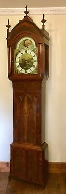 # Antique Mahogany Rolling Moon Longcase Grandfather Clock THOMAS HOLMES CHEADLE