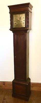 Antique Oak Grandmother / Miniature Grandfather Clock Weight Driven MAPLE LONDON