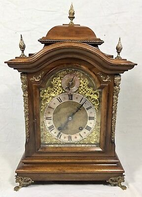 # Antique Walnut & Ormolu TING TANG Bracket Mantel Clock : RSM 1509 N04