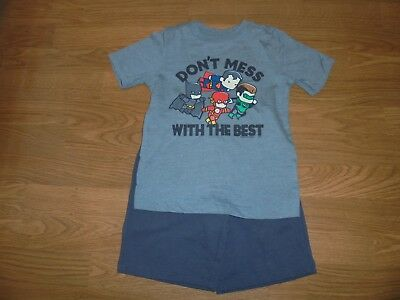 Old Navy gray shorts & super hero Batman collectabilitees shirt outfit set 4T