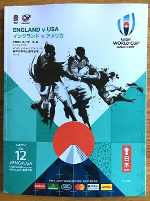 2019 Rugby World Cup England V USA Match Programme Pool C Kobe