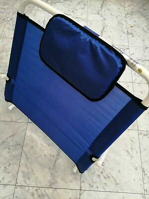 Back rest Adjustable Angle Use in Bed Strong Comfortable Folding Support Blue