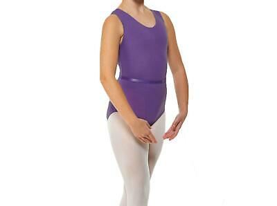 Adagio Girls Dance Wear June Leotard /& Belt White Sleeveless Size 1 Age 5-6