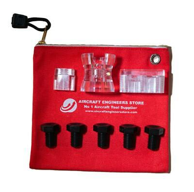 Aircraft Tools 8Pc Fraction Drill Bush Kit With Cup / Holders  Aes Storage Pouch