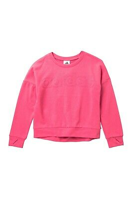 adidas Pink Linear Crew Sweatshirt Big Girls's Large 14 New with Tags