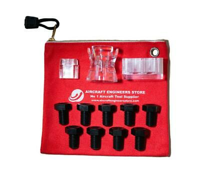 Aircraft Tools 12Pc Fraction & Numbered Drill Bush Kit With Drill Cup & Blocks