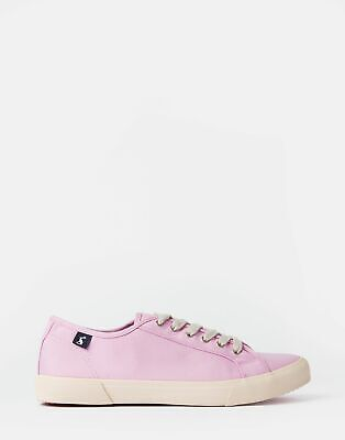 Joules Womens Coast Canvas Trainers in SFLILAC