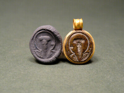 Byzantine Gold & Bronze Pendant Of Jesus Christ 400-600 Ad