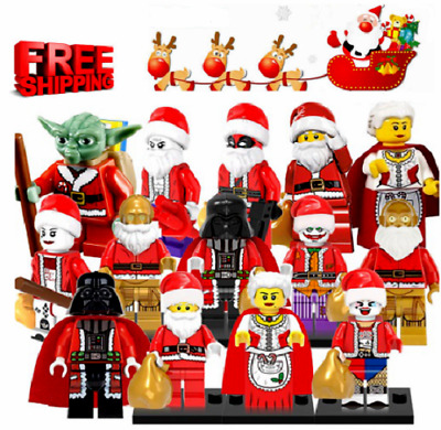 Christmas Santa Claus minifigures Super Heroes Star Wars Darth Vader C-3PO Yoda
