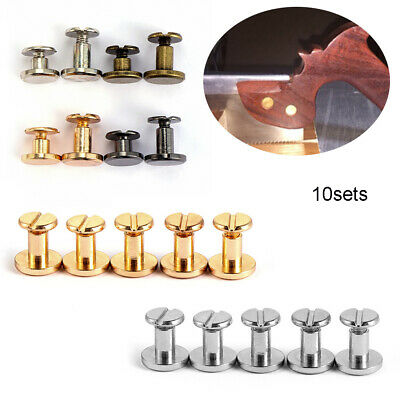 Scrapbooking Leather Craft decoration nail Cloth Button screw Brass Nail Rivets
