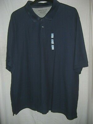 "Marks Spencer Mens Polo Shirt Plus Size 4XL 60"" Chest Navy Blue cotton"