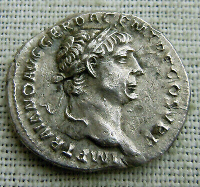 Ancient Roman Traianus Silver Denarius, VERY Rare! 103 AD  SPQR OPTIMO PRINC