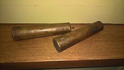 Pair of Vintage Brass, Lead Filled Clock Weights 1.25kg each