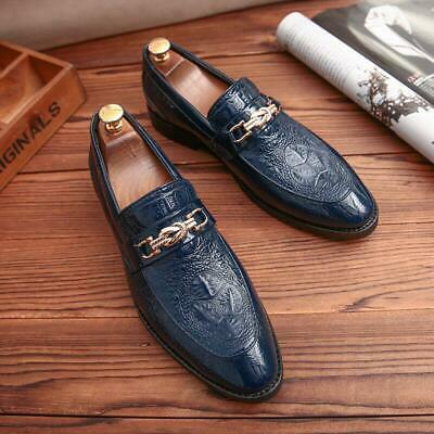 Mens Pointy Toe Vogue Leather Dress Formal Wedding Business Loafers Shoes 2020