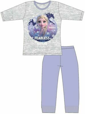 Disney Frozen Girls Pyjamas Elsa Pjs Sleepwear (Fearless Ages 4 to 10 Years 2019