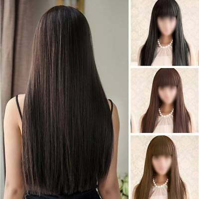 Real Thick & Soft Long Straight Full Hair Wigs Women's Fashion Synthetic Wig