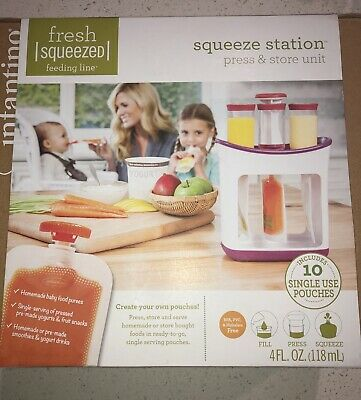 Infantino Squeeze Station Press & Store Unit NEW Sealed NIP Homemade Baby Food