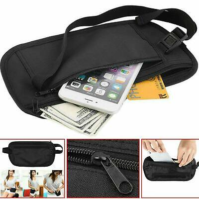 Travel Money Belt Wallet Hidden Under Clothes Waist Pouch Secure Purse Holder*1