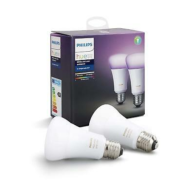 Philips Hue White and Color Ambiance Starter Kit con 2 Lampadine E27 WIFI RGB +