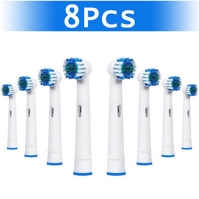 Genkent Electric Brush Heads Fits Vitality Toothbrush Replacement Tooth White UK