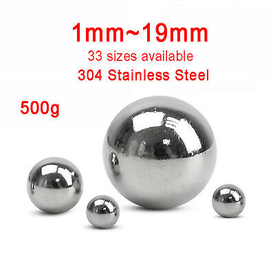 500g Solid 304 Stainless Steel Ball Bike Bearing Bead 1mm~19mm 33 sizes Optional