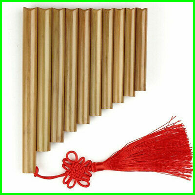 Wind Pan Flute Professional Beginner Student 15 Maple Bamboo Pipes Flutes Wood