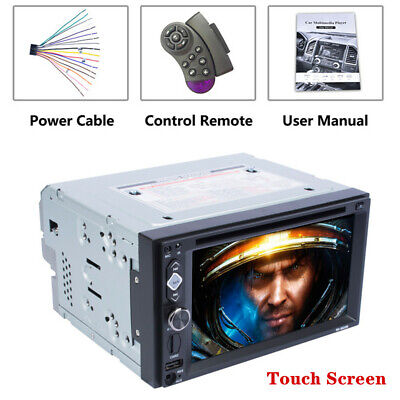 """6.2"""" 2DIN Car GPS Navigation Radio Stereo Touch Screen DVD/CD Player Mirror Link"""