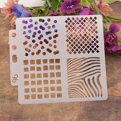 Reusable Square Stencil Airbrush Art Diy Home Decor Scrapbooking Album Craft AU