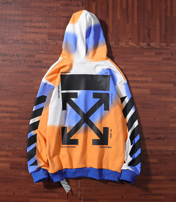 new OFF WHITE Rendering stripes Paris limited hoodie men jacket thin hoodie