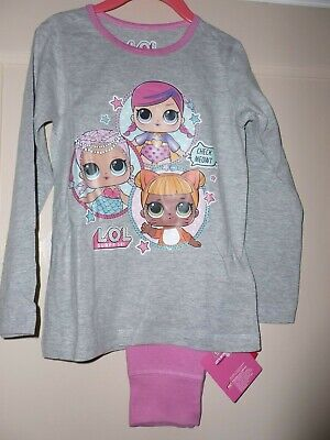 Girls Official LOL Surprise Pyjamas Grey/ pink age 4-5 years nwt