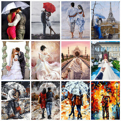 Couples Lover DIY Paint By Number Kit Digital Oil Painting Art Wall Home Decor
