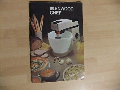 VINTAGE Kenwood Chef Instructions & Recipe Book For A901 TYPES Mixers