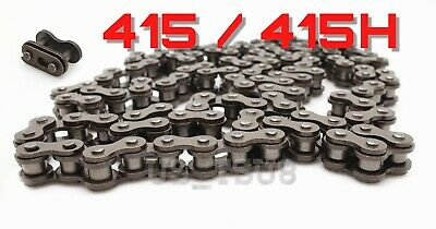 Motorized Bike Chain 415H Nickel Plate Master Link No Rust Moped